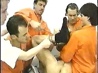 Groupsex with cum in prison