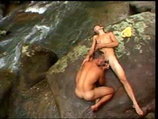 Nude Dudes Enjoy Blowing Outdoor