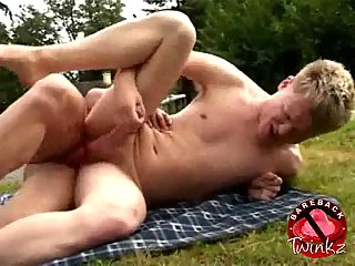 Lustful Twinks Protected Fucking Outdoors