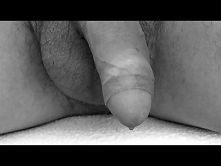 Close-Up Wanking In Black And White