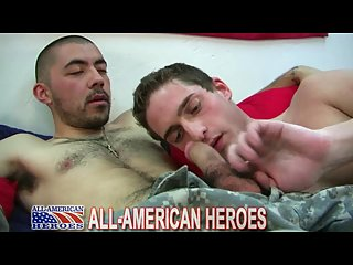 Horny Guy Licking Soldier Feet