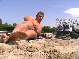 Dirty gay outdoor solo