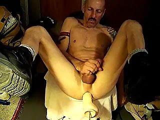 Old Gay Banged By Fucking Machine