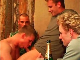Lustful gangbang party & giving head