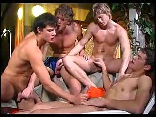 Gays handjob orgy