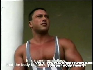 Body builders showing their bodies