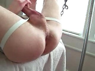 Wanking Gay Gets Deep Fisted