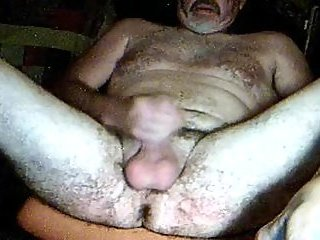 Mature Bear Jerking Off & Cumming