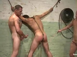 Pervert  dudes in mad bondage act