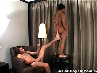 Dick shaking front asian