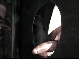 Khaki Guy Sucking Cock Through Glory Hole