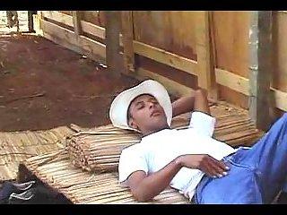 Ebony cowboys have anal fun outdoor
