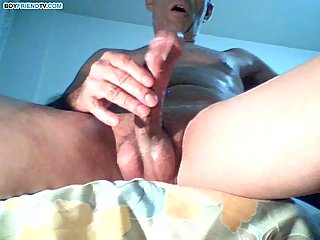Nasty Webcam Guy Yanking Stiff Prick