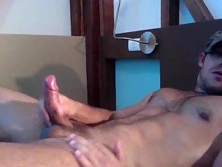 Lustful Man Shoots Spunk