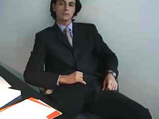 Office Worker Gets His Jerked Cock Sucked