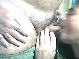 Rousing mature blowjob