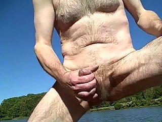 Bear Wanking In A Wood