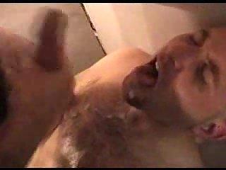 Gloryhole sucking & lavish cumming