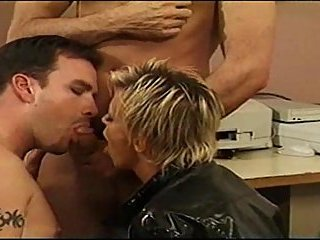 Bisexual threesome playing
