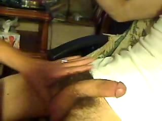 Mature sucking & toying with sex toy