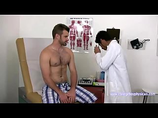 Physical examination in the medical room