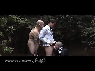 Business Guys Steamy Action Outdoor
