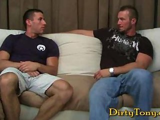 Hot Gay Coition On A Sofa
