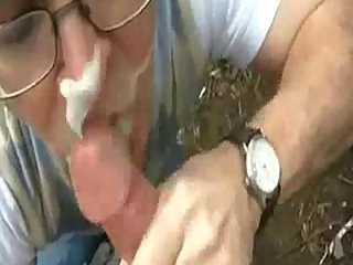 Cool lavish facials after sucking