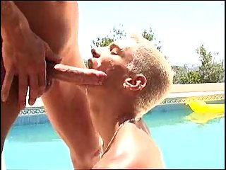 Cool ass licking in the pool