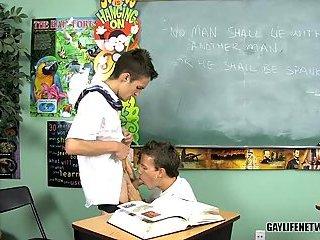 Slender Schoolboys Penetrating