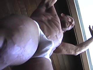 Shower Body Builder In Wet Panties