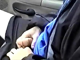 Guy Jerking Off & Getting Dick Sucked In A Moving Car