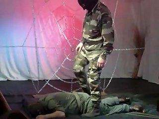 Harsh Soldier Dominating Over Stud