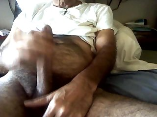 Hairy dong furious jerking off