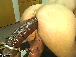 German Gay Sticking Huge Black Toy
