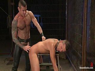 Bound torturs & condom fucking