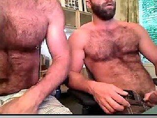 Unforgettable double bears jerking off