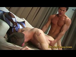 Swarthy Buddy Dominating Over His BF