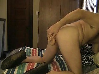 Horny Gay Toying Butt In Bed