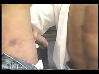 Latinos hot drilling near the car