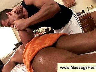John Marcus gets a massage