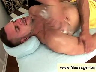Massage turns into a blowjob