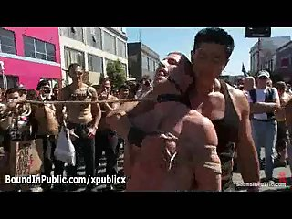 Two bound gays flogged in public at daylight