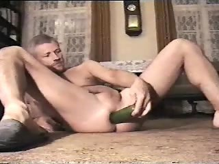 Raunchy Amateur Stuffing Ass Hole With Cucumbers
