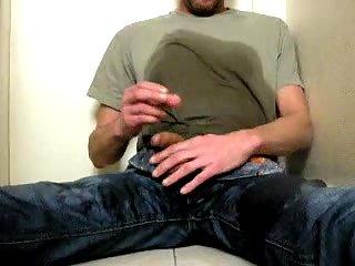 Lustful Gay Pissing On Himself