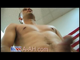 Aroused Soldier Solo Steamy Wanking