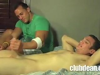 Unforgettable handjob for huge dick & lavish squirting