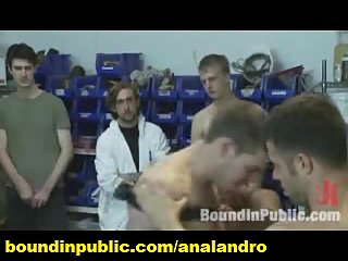 Big Cock Straight Guy Public Gay Humiliated in a Paint Shop