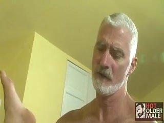 Gray Gay In Tats Splitting Butt Hole
