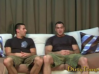 Hunks hot drilling after handjob & sucking